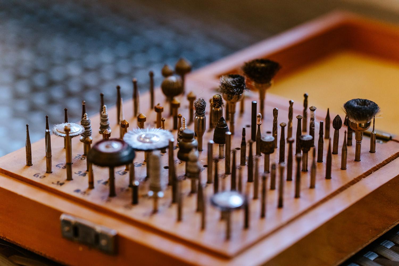 Goldschmiede Werkzeuge